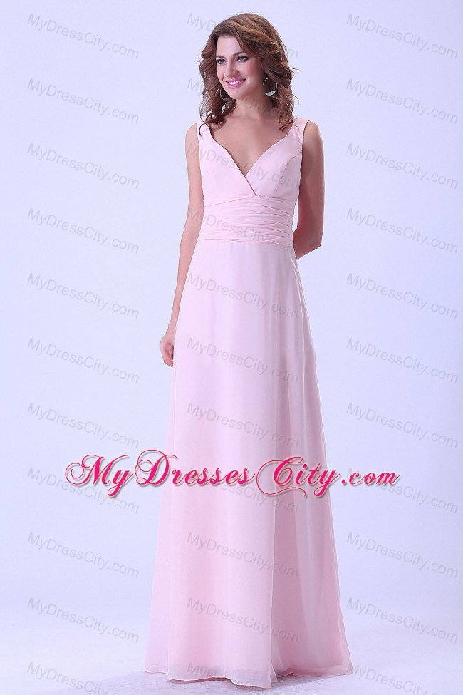 elegant floor length baby pink chief bridesmaid dress for cheap : My ...