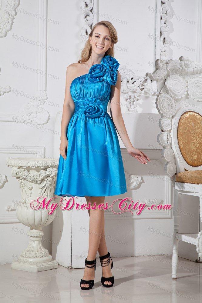 Dark sky blue bridesmaid dresses