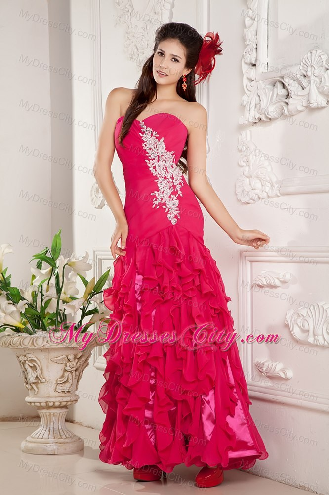 Quincenerra Dresses Ankle Length Pink