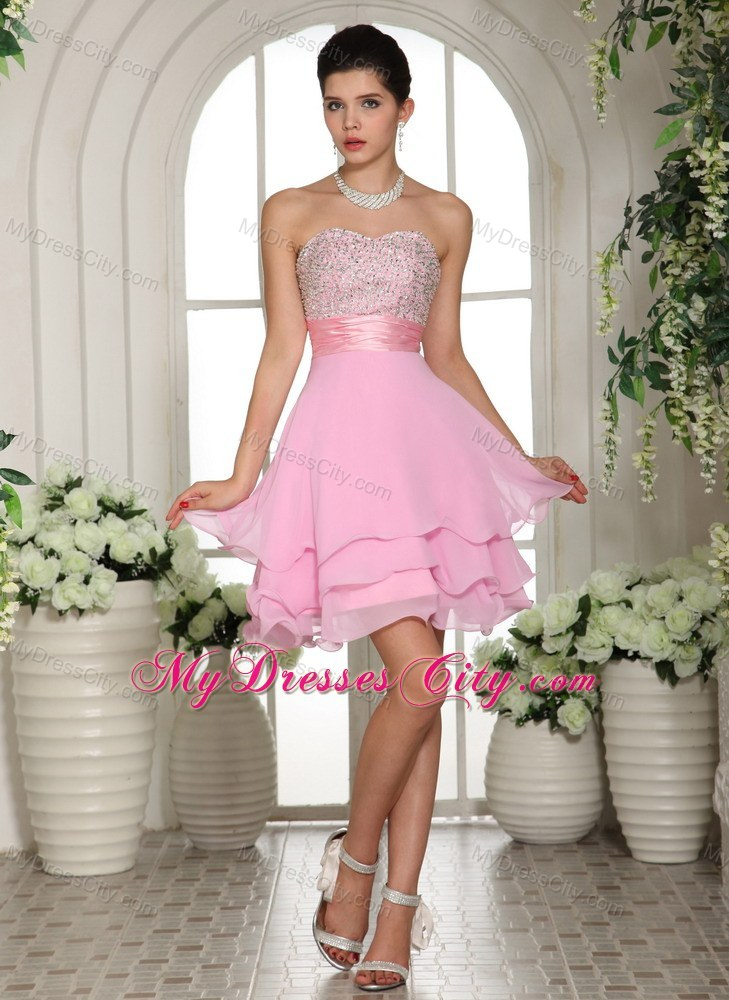 Sweetheart A-line Beaded 2013 Baby Pink Prom Dress for ...