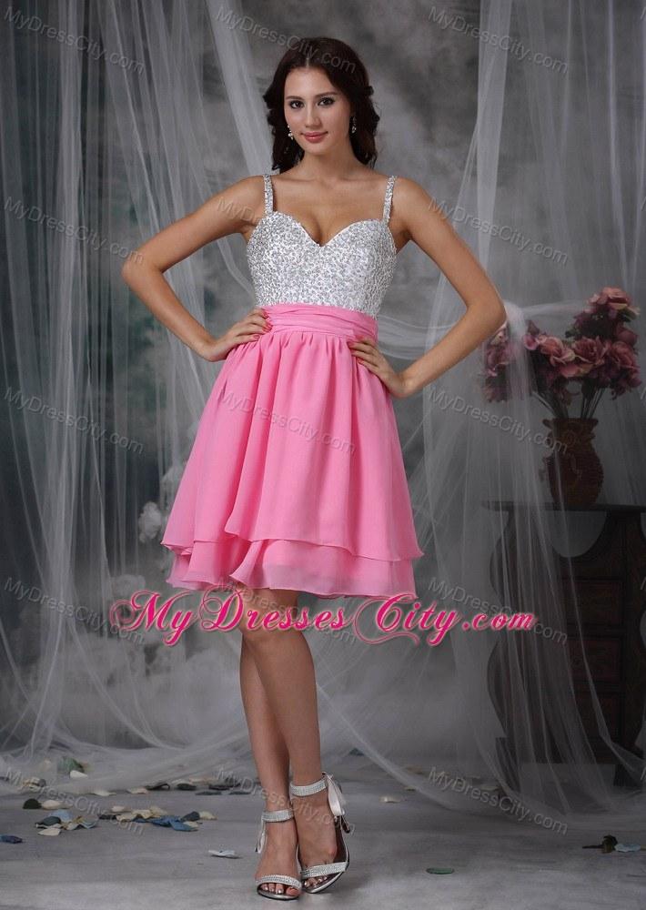 White Spaghetti Strap Short Prom Dresses – fashion dresses