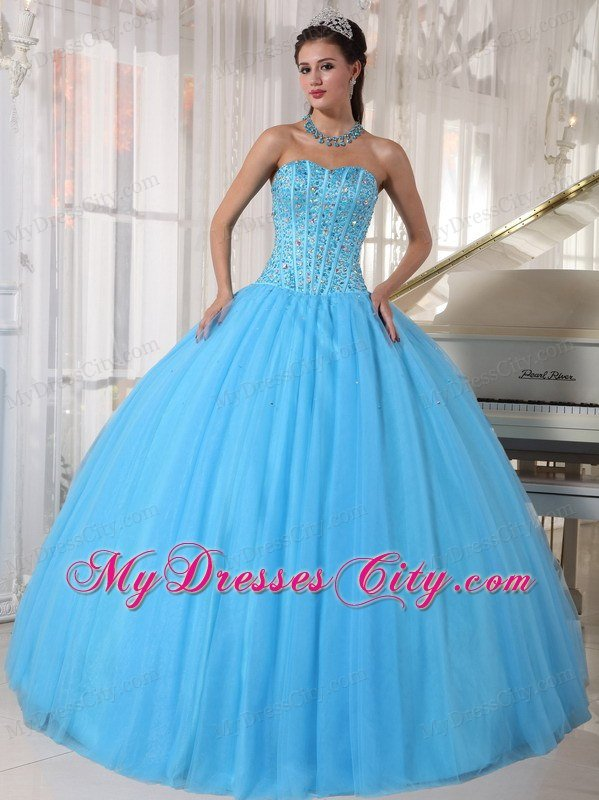 Sweet 16 Birthday Dress for Puffy Sweetheart Beadwork Sky Blue ...