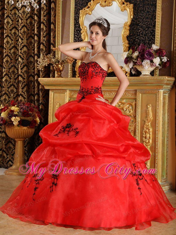 Red Quinceanera Dresses| Long Bright Red Quinceanera Gowns in ...