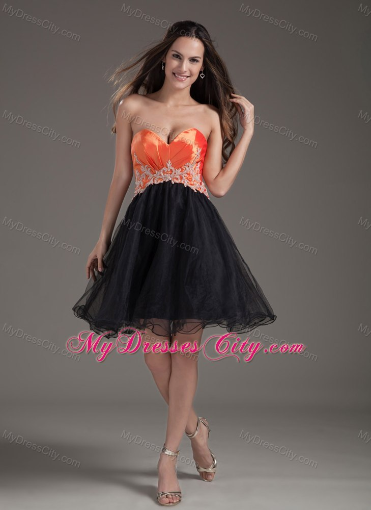 Orange Sweetheart Dress