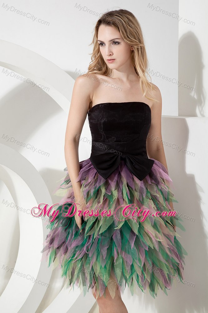 Multi-color A-line Tulle Homecoming Cocktail Dresses with Ruffles ...
