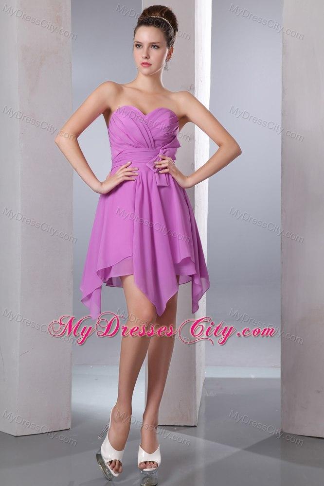 Lavender Sweetheart Handkerchief Hem Dama Dresses for Quinceanera ...