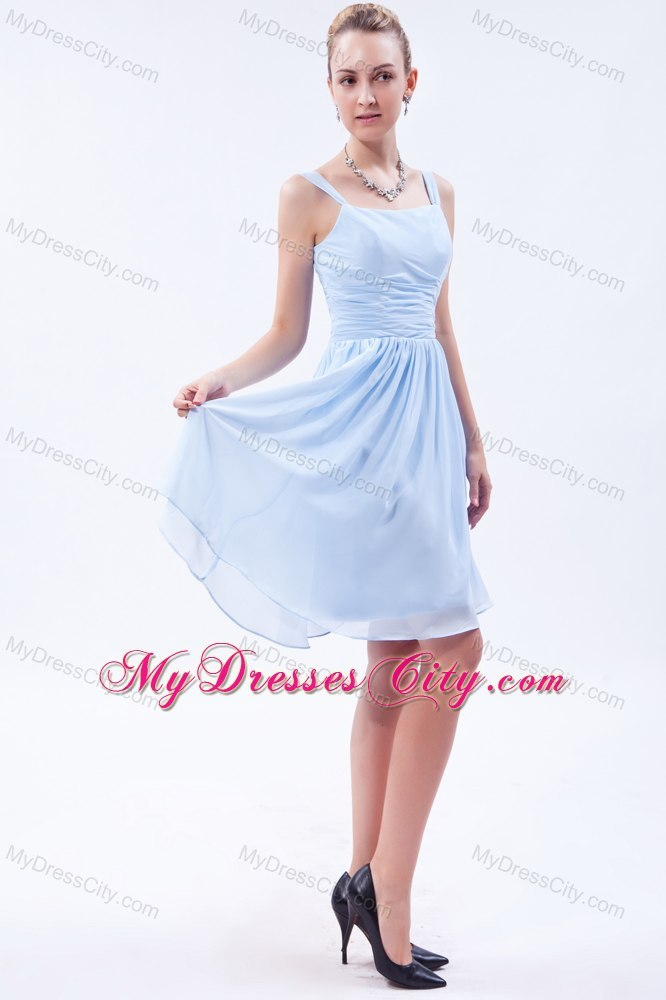 Wedding Dress Alterations Huntsville Al : Knee length light blue chiffon bridesmaid dama dresses mdcunion t