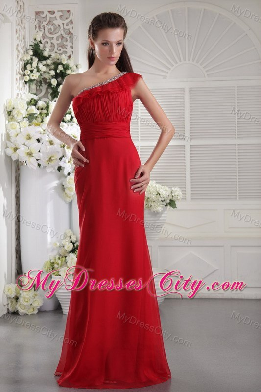 One shoulder evening dress necklace