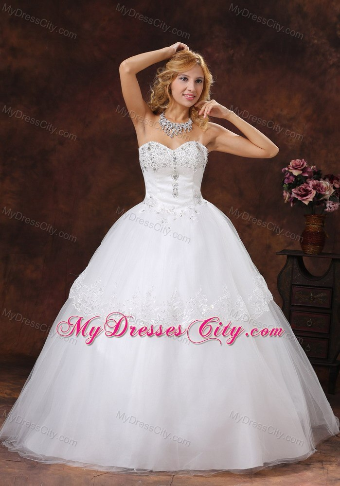 Beaded sweetheart neckline puffy tulle ball gown 2013 for Ball gown wedding dresses with sweetheart neckline and beading