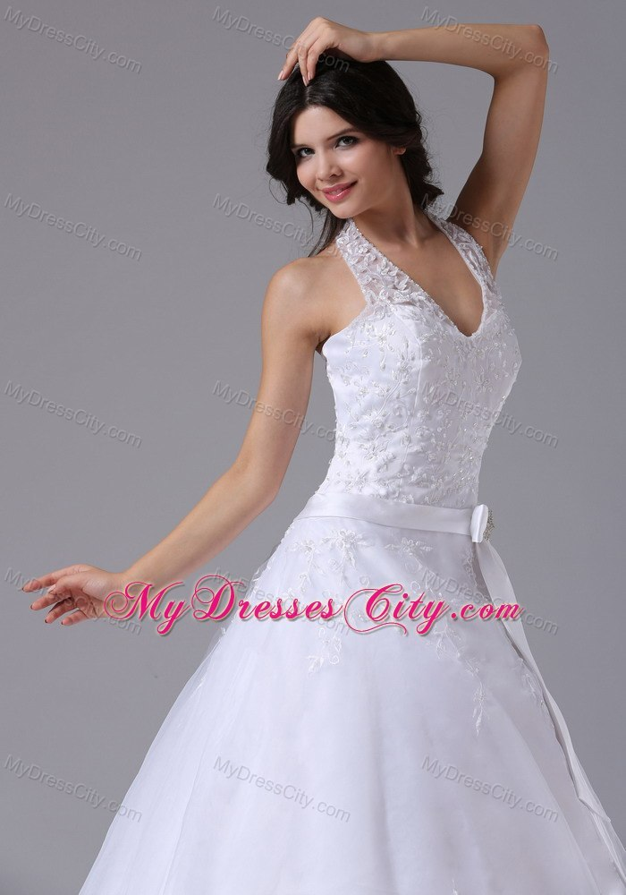 Turmec simple halter top wedding dresses for Wedding dress halter top
