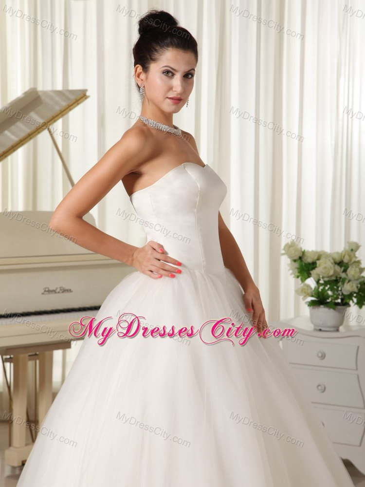 Cheap simple tulle sweetheart princess 2013 wedding for Simple inexpensive wedding dresses