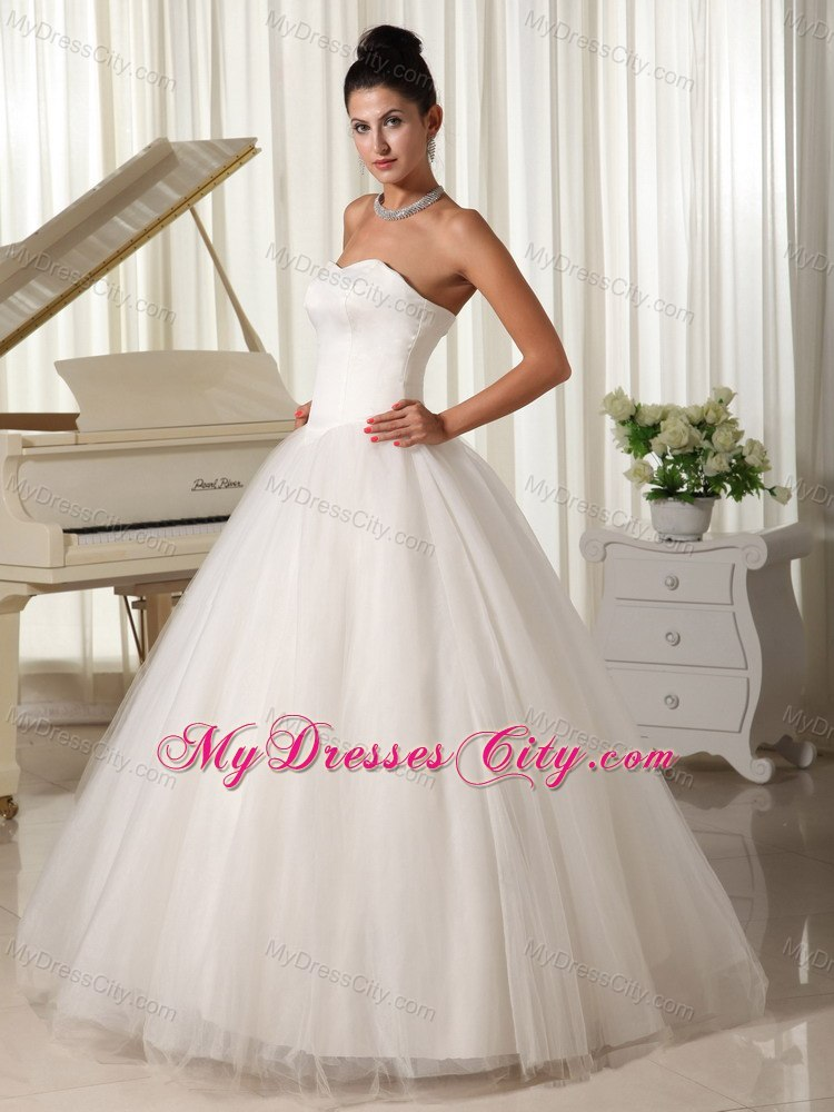 Cheap simple tulle sweetheart princess 2013 wedding for Simple wedding dress cheap