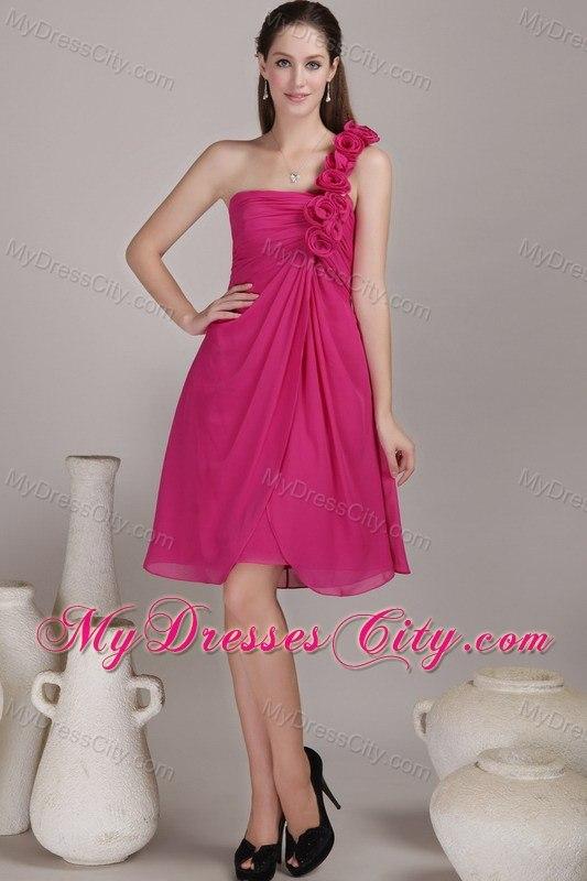 Knee Length Chiffon Prom Dresses