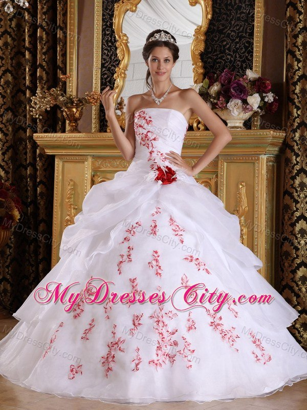 Pretty Red and White Quinceanera Dresses,Super Sweet Red and White ...