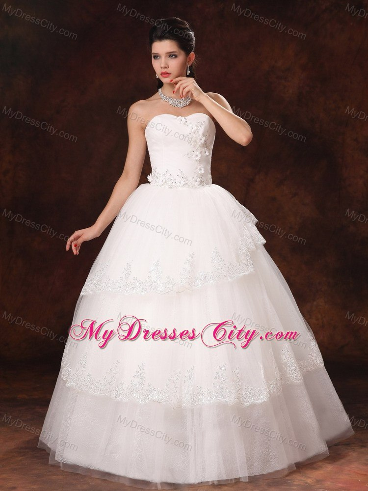 Wedding Dress Alterations Huntsville Al : Ball gown tulle appliques sweetheart floor length wedding dress