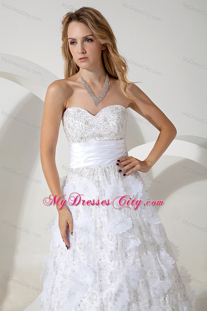 Sweetheart special fabric bridal dresses for church for Materials for wedding dresses