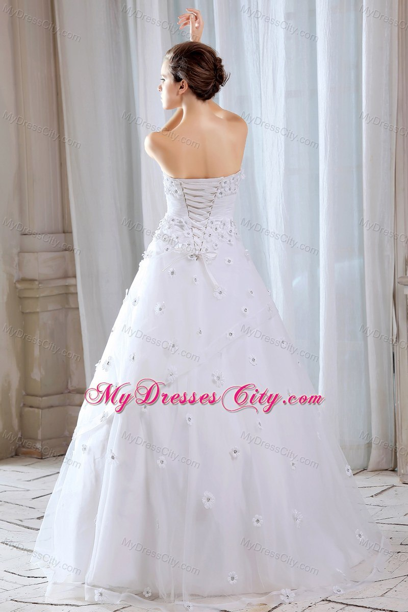 A line strapless long wedding gowns with appliques for for Average wedding dress budget