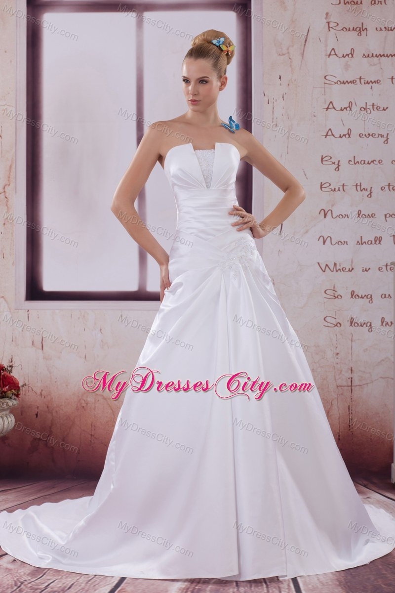 2013 Ruches Strapless Wedding Dress For The 25th