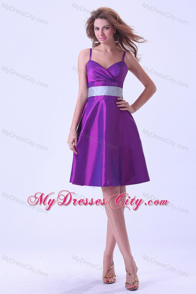 Short Purple Silver Dresses