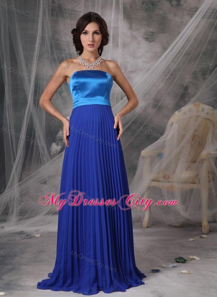 pleated chiffon floor length bridesmaid dress