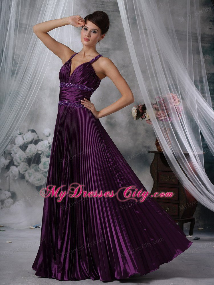 Purple Prom Dresses Straps