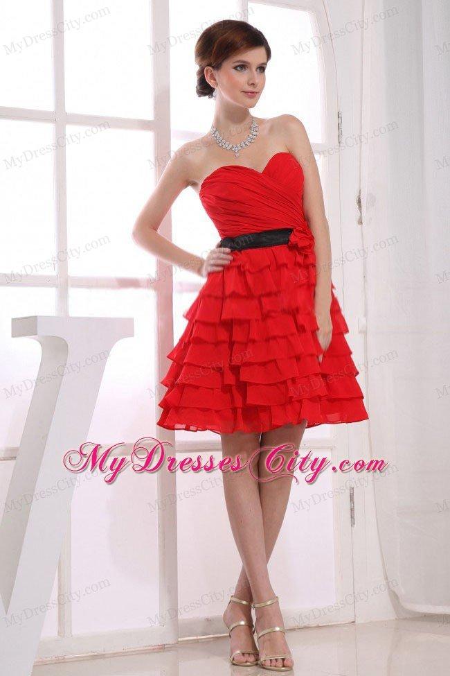 Knee High Red Dresses