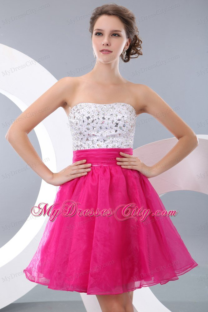 whats hot for homecoming 2013 2013 hot pink a line beading ...