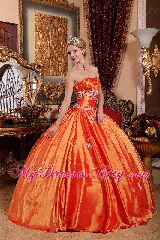 Orange-Red Taffeta