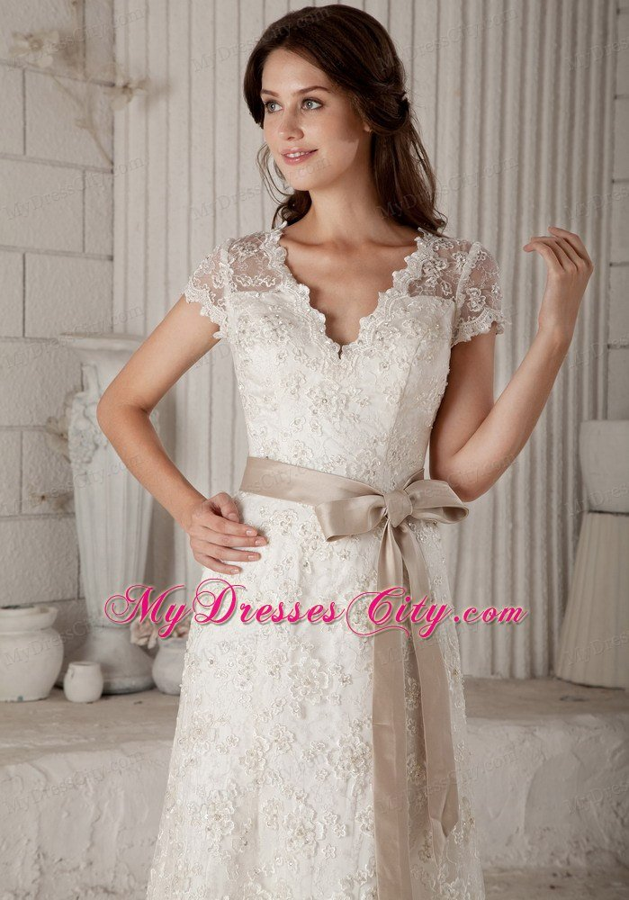 Simple Short Off White Wedding Dresses