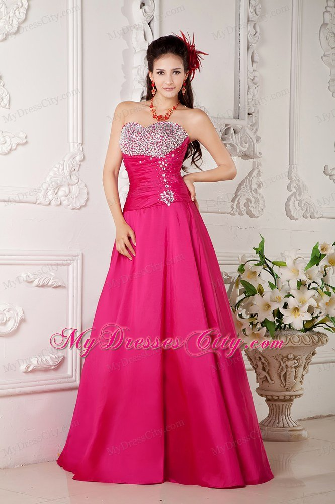 Mermaid Beaded Sweetheart Red Prom Evening Dress - MyDressCity.com