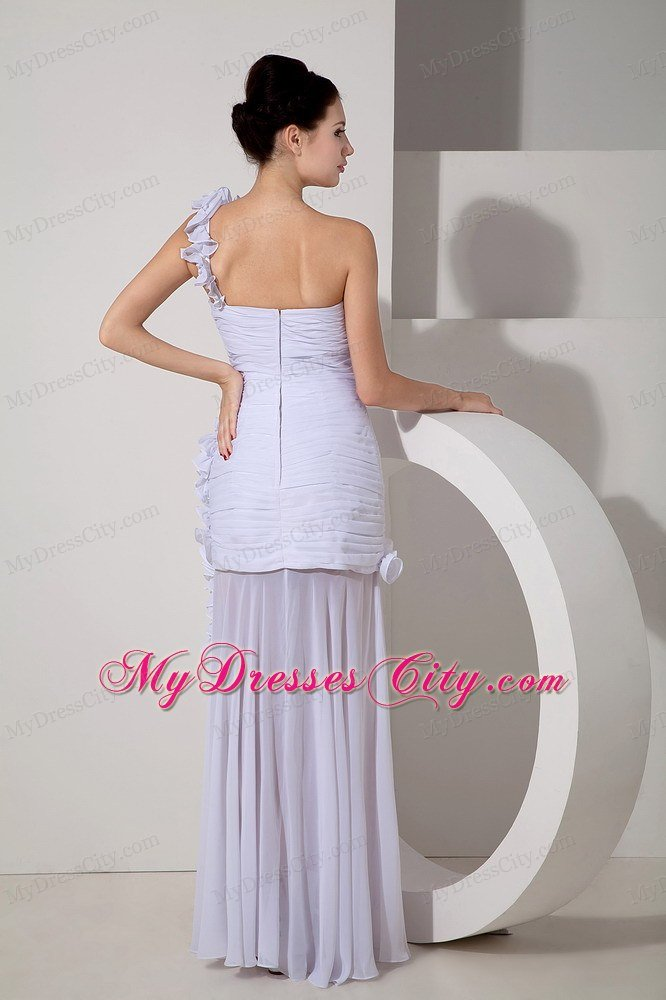 Sweetheart Asymmetrical Ruched Bridal Gown With Detached