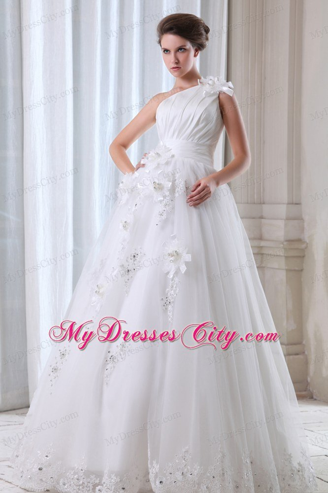 Dennis Bo Wedding Dresses 2018 Ideas Pleated Beading Hand Made Flowers Gown With Sash