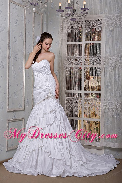 Elegant mermaid sweetheart 2013 garden wedding dress with for Most elegant wedding dresses