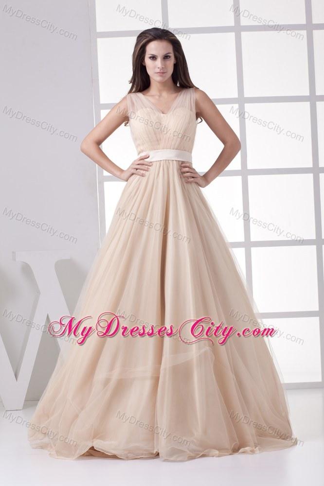 V Neck Pageant Dress