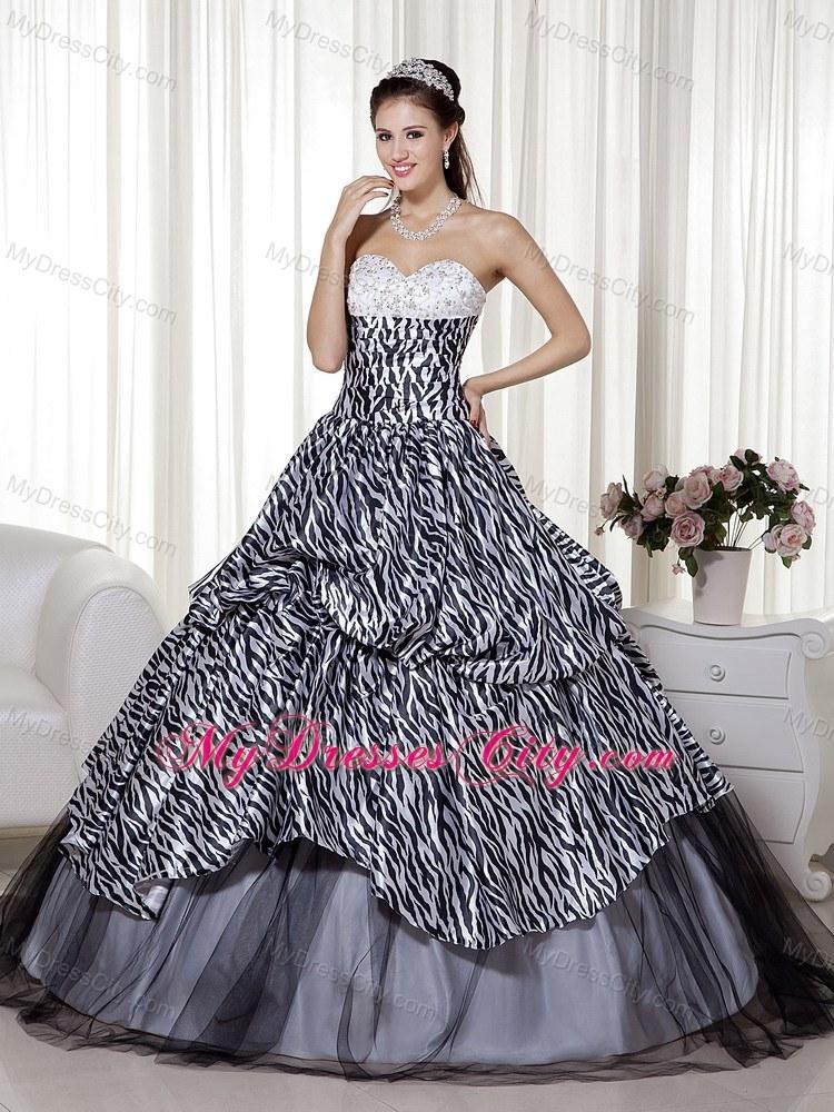 Luxurious Sweetheart Zebra 16 Birthday Dress in Party ...