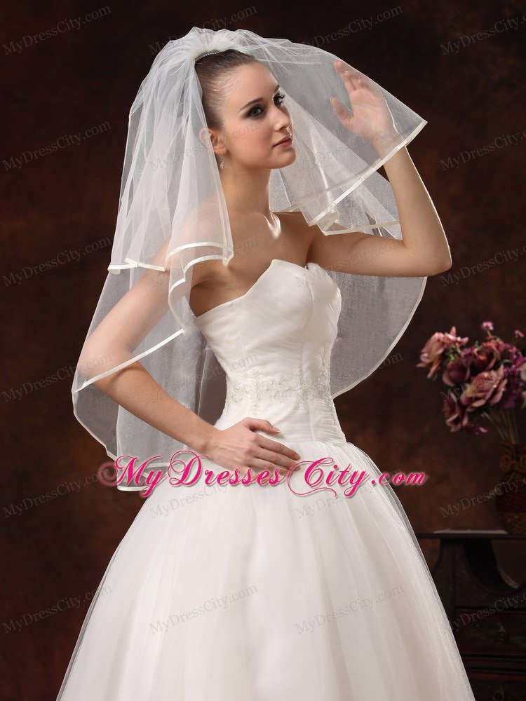 2 Layers Elbow Length Beautiful Wedding Veil